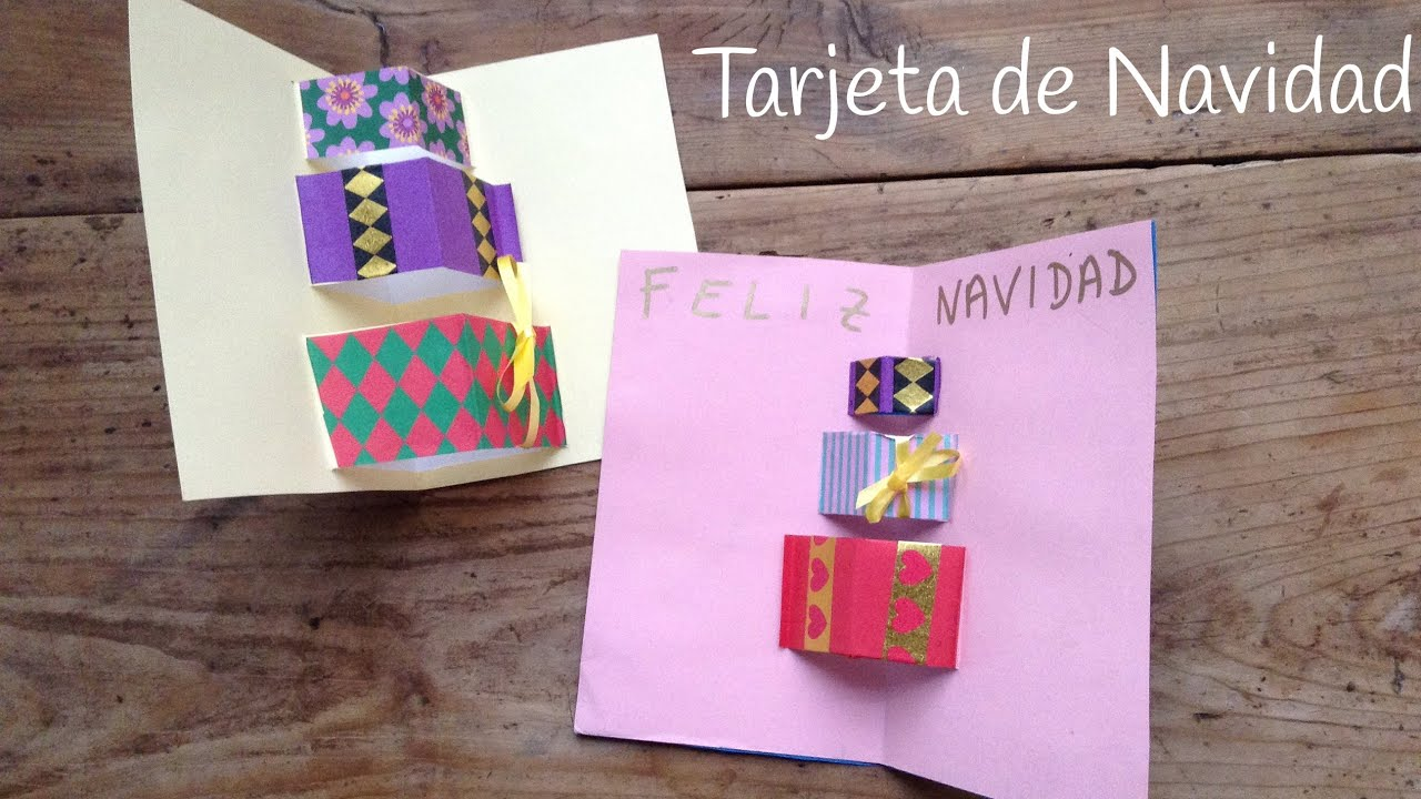 Tarjetas De Navidad En 3d De Regalos Manualidades Navidenas - Manualidades-faciles-de-navidad-para-regalar
