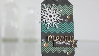 Perfect Pearls Tutorial + Christmas Tag