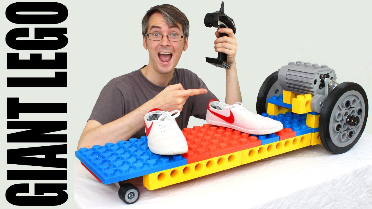 LEGO Electric Skateboard made from GIANT 3D Printed Bricks #1 | XRobots