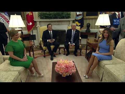 President Trump Meets with President Varela