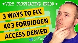 Wordpress 403 - Forbidden Access Is Denied Error Solutions