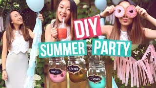 DIY Summer Party! Decorations + Snacks!