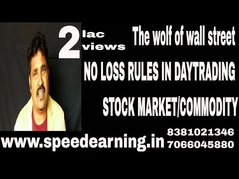 NO LOSS RULES IN DAYTRADING OF STOCK MARKET/COMMODITY