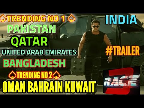 RACE 3 TRAILER | TRENDING NO 1 IN PAKISTAN | QATAR | BANGLADESH | UAE | INDIA | NO 2 IN OMAN BAHRAIN