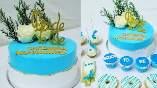 Bridal Shower Cake / 1.5 Kg Vanilla Cake / Golden Border