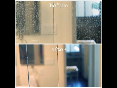 Πως να αφαιρέσετε τα άλατα από τα τζάμια του μπάνιου
