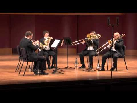 William's brass quintet plays the 4th movement of Ewald No. 3