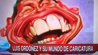 Caricaturas con Luis Ordoñez en el programa La mañanna