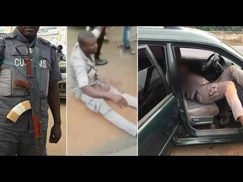 Nigeria custom officers shot and killed a young man in Benin. Part  1