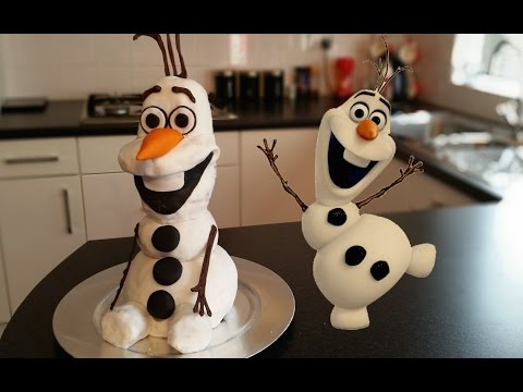 How to Make a Frozen Olaf Cake   CarlyToffle