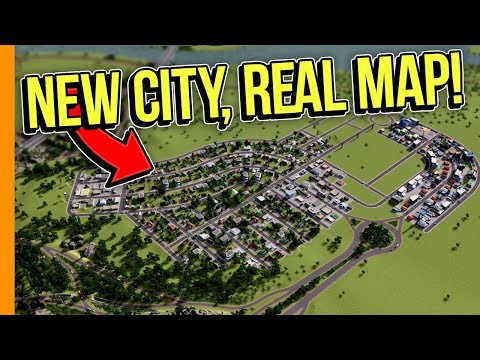 NEW CITY, REAL MAP // Cities: Skylines Campus - Part 1
