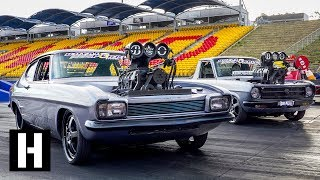 Aussie Tandem Tip-in Burnout party w/ The Blown Outlaws
