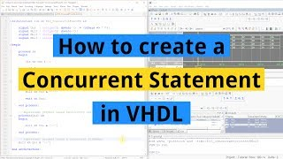 How to create a Concurrent Statement in VHDL