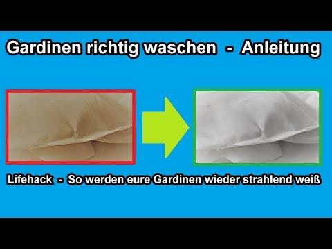 So werden Gardinen wieder strahlend weiß -  Vorhänge richtig waschen – Anleitung / Lifehack