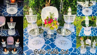 DIY Indoor Outdoor Lawn Or Patio Glamorous LED Table Set Using Dollar Tree Laundry Baskets 2020