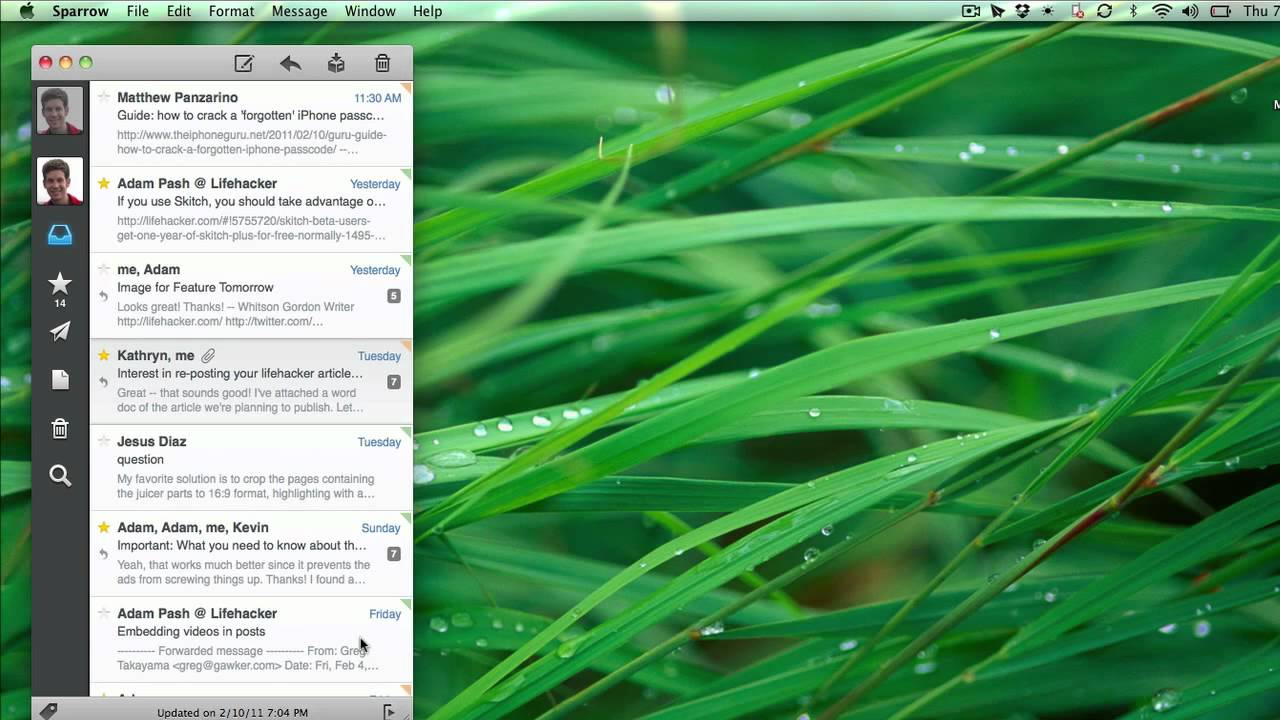 Sparrow Is The Desktop Gmail Client You've Always Wished For