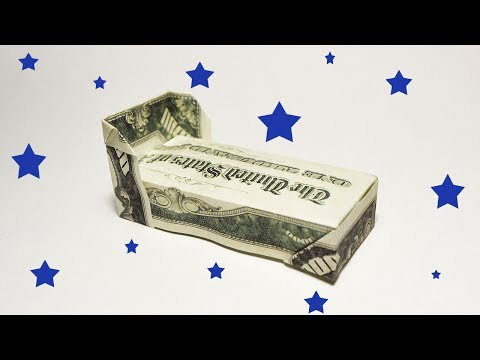 Money BED Origami One Dollar Simple Tutorial DIY Folding