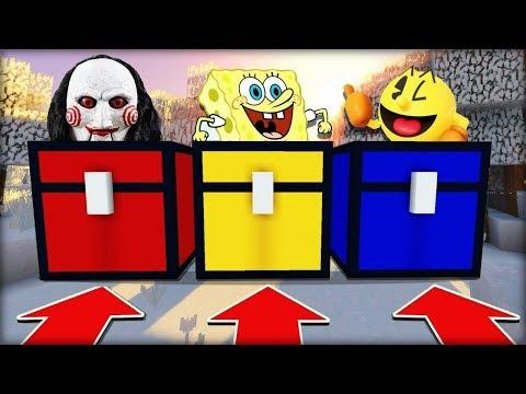 NEVYBER SI ŠPATNOU SNĚŽNOU TRUHLU V MINECRAFTU! (Jigsaw, Zlý Spongebob, Pacman)