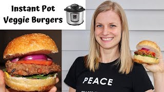 Oil-Free Veggie Burgers with the Instant Pot!