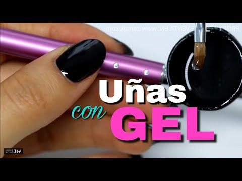 CLASE #38 💅🏻 UÑAS de GEL con TIPS (natural) PASO A PASO