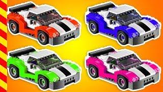 Лего все серии подряд 20 МИН. Мультик строим машинки Lego. Машинки все серии. Машина Мультик гонки.
