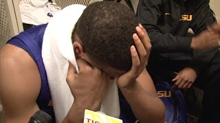 LSU Basketball Emotional after Tournament loss