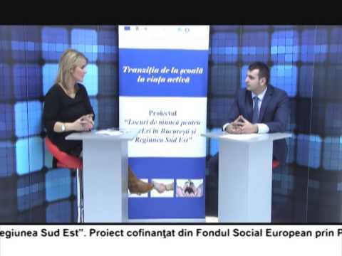 (VIDEO) Locuri de muncă pentru TINEri în București și regiunea Sud Est – VALENTIN VOICU (E4)
