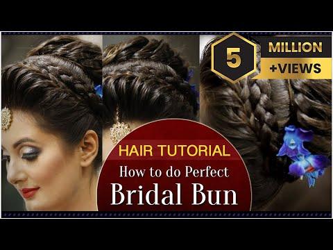 How to Do a Perfect Bridal Bun Hair Tutorial Video   Fast and Easy Bridal Bun Tutorial for Wedding