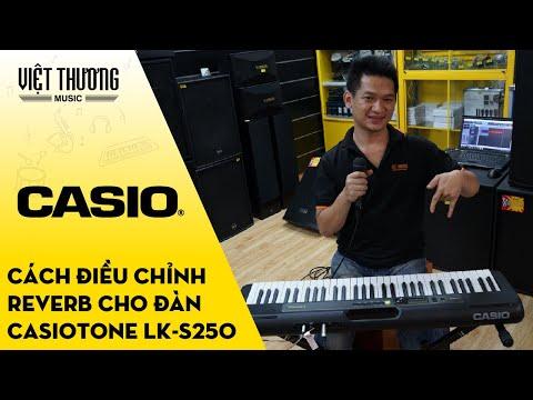 Hướng dẫn cách điều chỉnh Reverb trên đàn organ Casiotone LK-S250