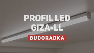 Montaż oświetlenia LED w garażu - profil giza LL
