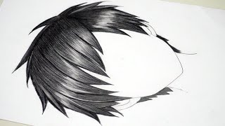 How To Draw Anime Boy Hair [Drawing Realistic Anime Hair For Beginners]