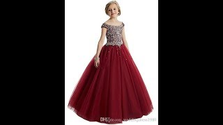 How To Make Kids Ball Gown( Detailed)