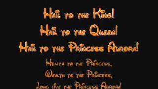 Hail To The Princess Aurora - Sleeping Beauty Lyrics