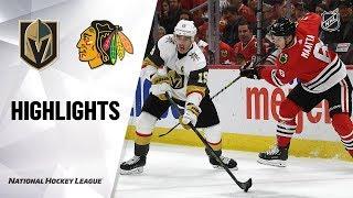 Golden Knights @ Blackhawks 10/22/19 Highlights