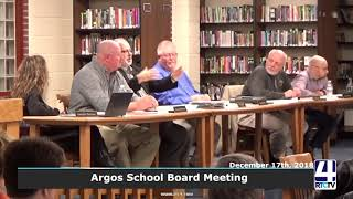 Argos School Board Meeting 12-17-18