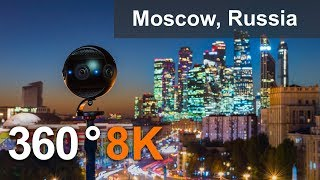 Moscow City Center, Russia. 360 Timelapse in 8K