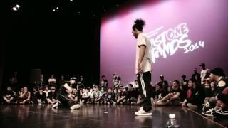 Last One Stands 2014 Hip-Hop Quarter-Final: FRANCIS (Vancouver) VS ALEX THE CAGE (Belgium)