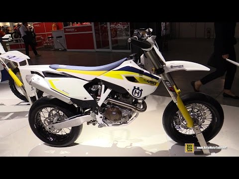 2015 Husqvarna FS 450 Super Motard Bike - Walkaround - 2014 EICMA Milan Motorcycle Exhibition