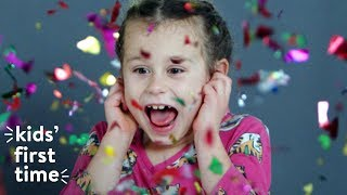 Kids Use Party Poppers & Sparklers for the First Time | HiHo Kids