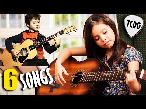Aprende 6 Canciones Súper Fáciles Para Niños y Principiantes En Guitarra Acústica TCDG