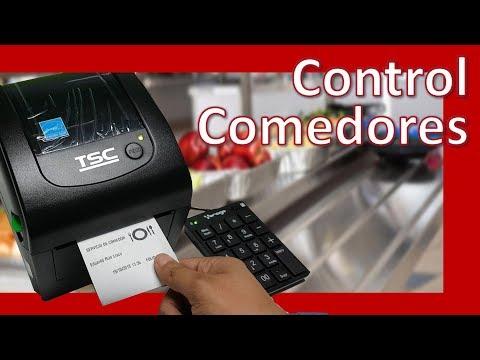 Impresora para el Control de Comedores con Recibos, RFID y Código de Barras