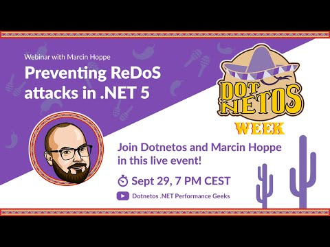 Image thumbnail for talk Preventing ReDoS attacks in .NET 5