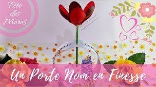 Réaliser un Porte Nom fleuri... | Kholo.pk