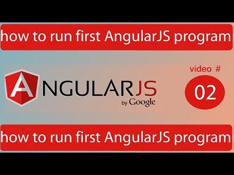 how to run first AngularJS program