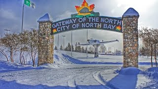 preview picture of video 'North Bay, Ontario - Main Street Drive-Thru in Winter'
