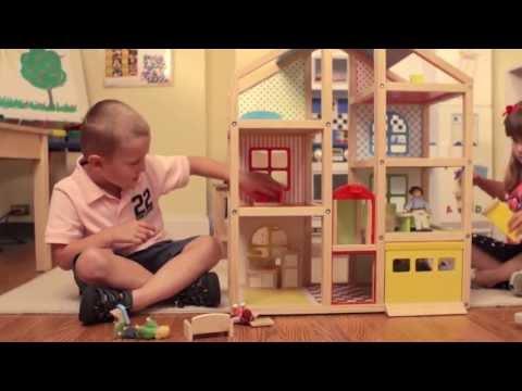 Hi-Rise Dollhouse and Furniture Set by Melissa & Doug