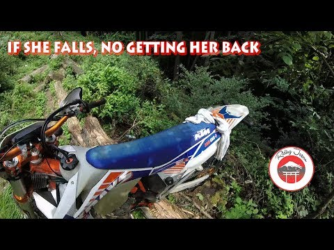 #183 The day I almost fell down a ravine on a KTM EXC-F 350