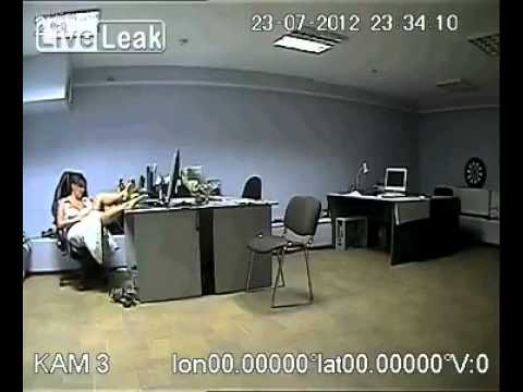 Woman Caught in the office