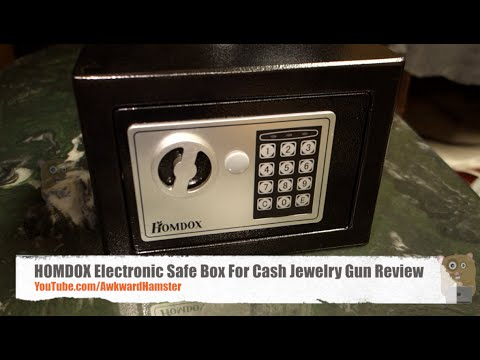 HOMDOX Electronic Safe Box For Cash Jewelry Gun Review