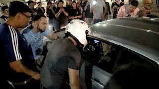 FIGHT AT CAR MEET!!! - CAMARO RUNS PEOPLE OVER!!!